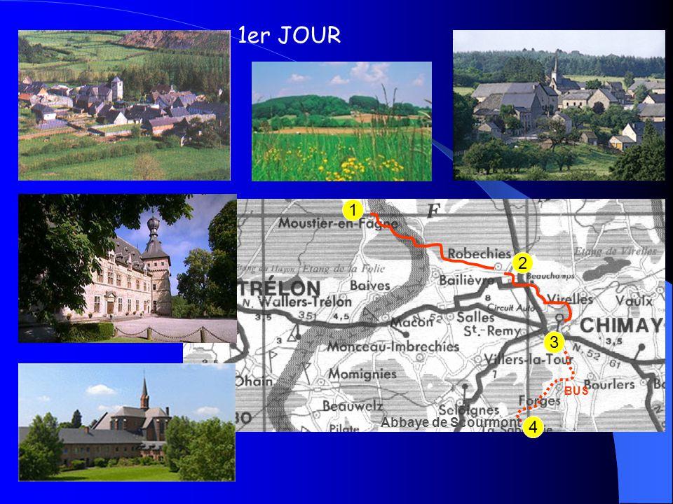 7 6 5 2éme JOUR BUS 4 Abbaye de Scourmont Abbaye de Leffe Abbaye de Maredsous