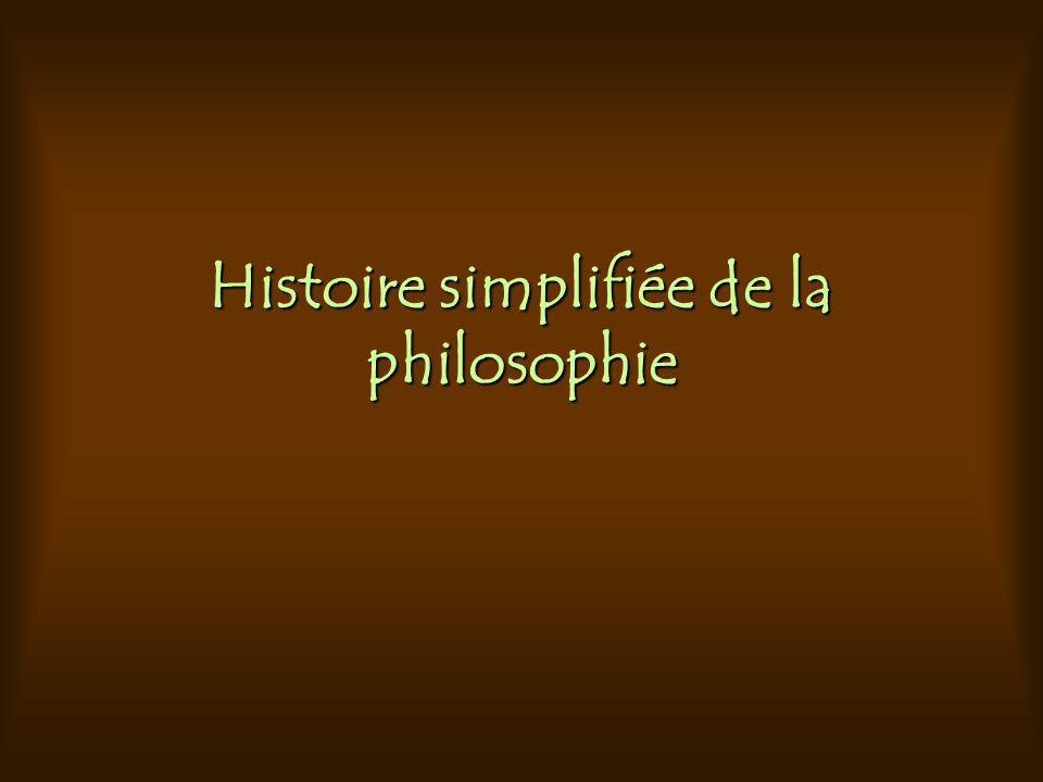 Histoire simplifiée de la philosophie
