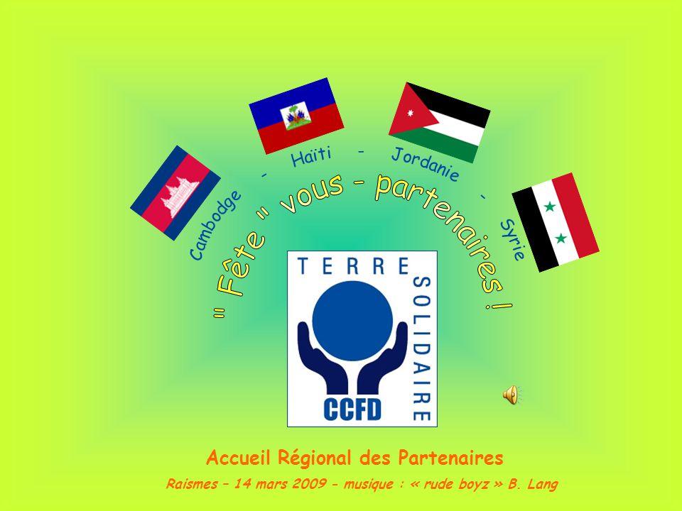 Raismes – 14 mars 2009 - musique : « rude boyz » B. Lang Accueil Régional des Partenaires