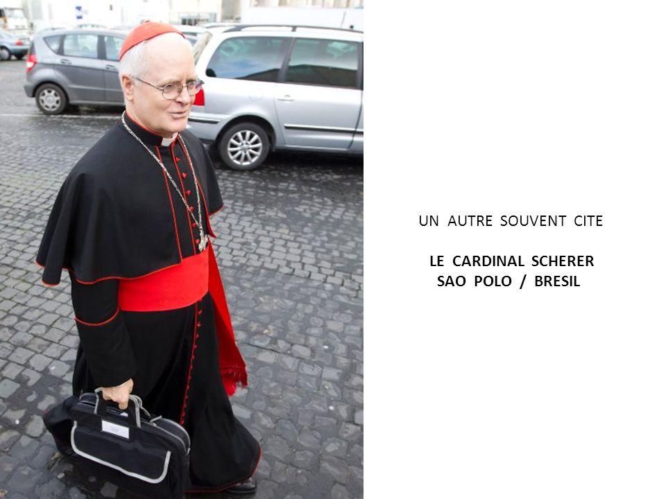 UN DES FAVORIS … LE CARDINAL SCOLA / MILAN / ITALIE