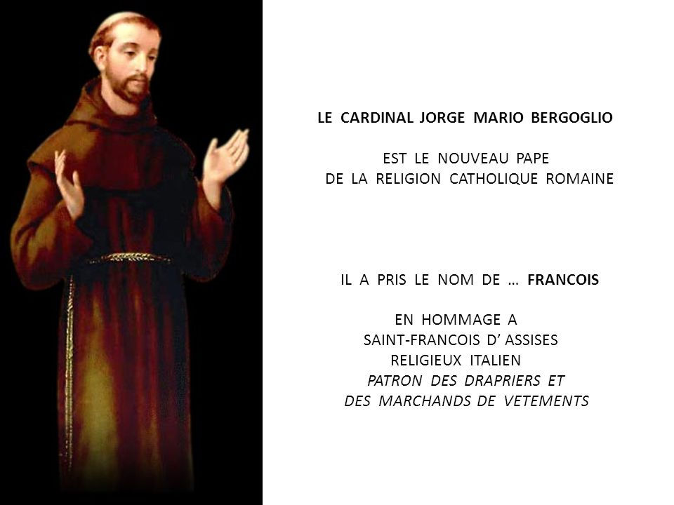 LE CARDINAL FRANCAIS TAURAN ANNONCE … HABEMUS PAPAM