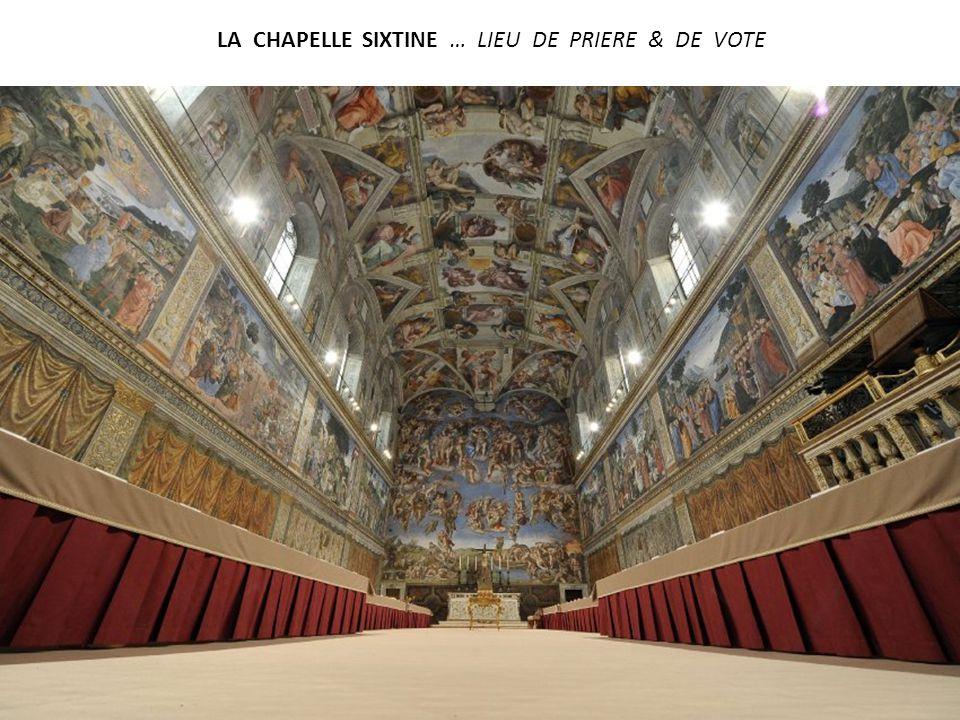 LA CHAPELLE SIXTINE … LIEU DE PRIERE & DE VOTE