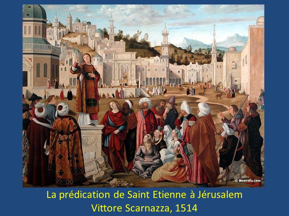 La prédication de Saint Etienne à Jérusalem Vittore Scarnazza, 1514