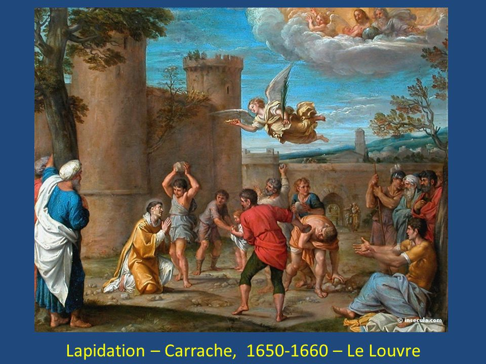 Lapidation – Carrache, 1650-1660 – Le Louvre