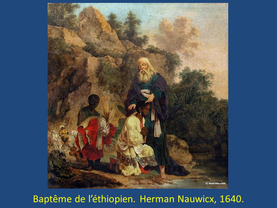 Baptême de léthiopien. Herman Nauwicx, 1640.