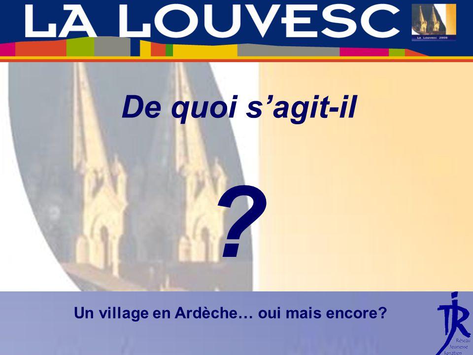 De quoi sagit-il Un village en Ardèche… oui mais encore