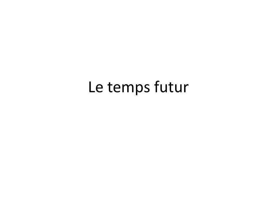 Le temps futur