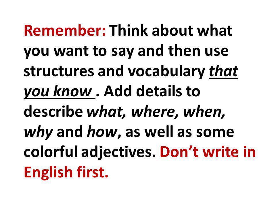 Alors, écrivons!