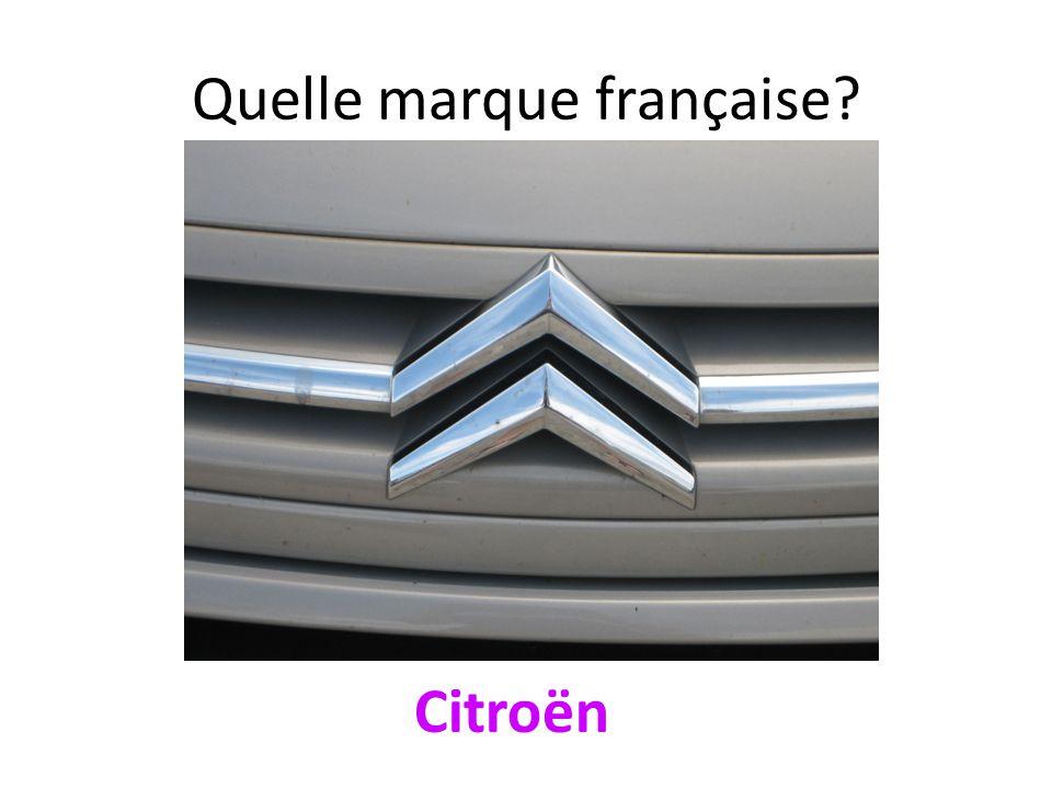 Quelle marque française? Citroën