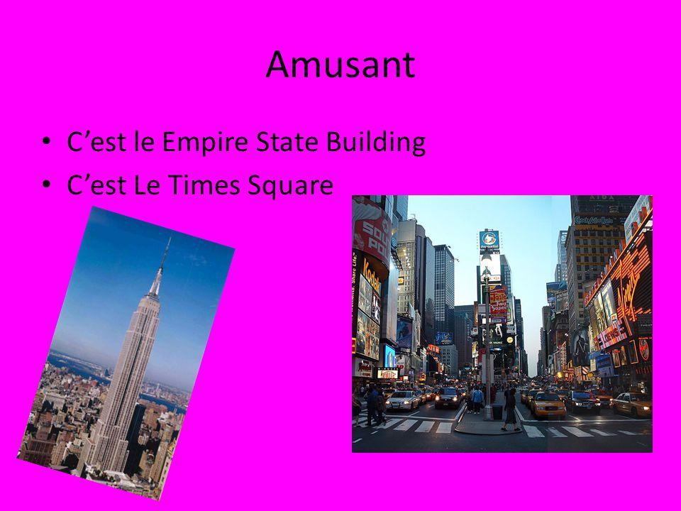 Amusant Cest le Empire State Building Cest Le Times Square