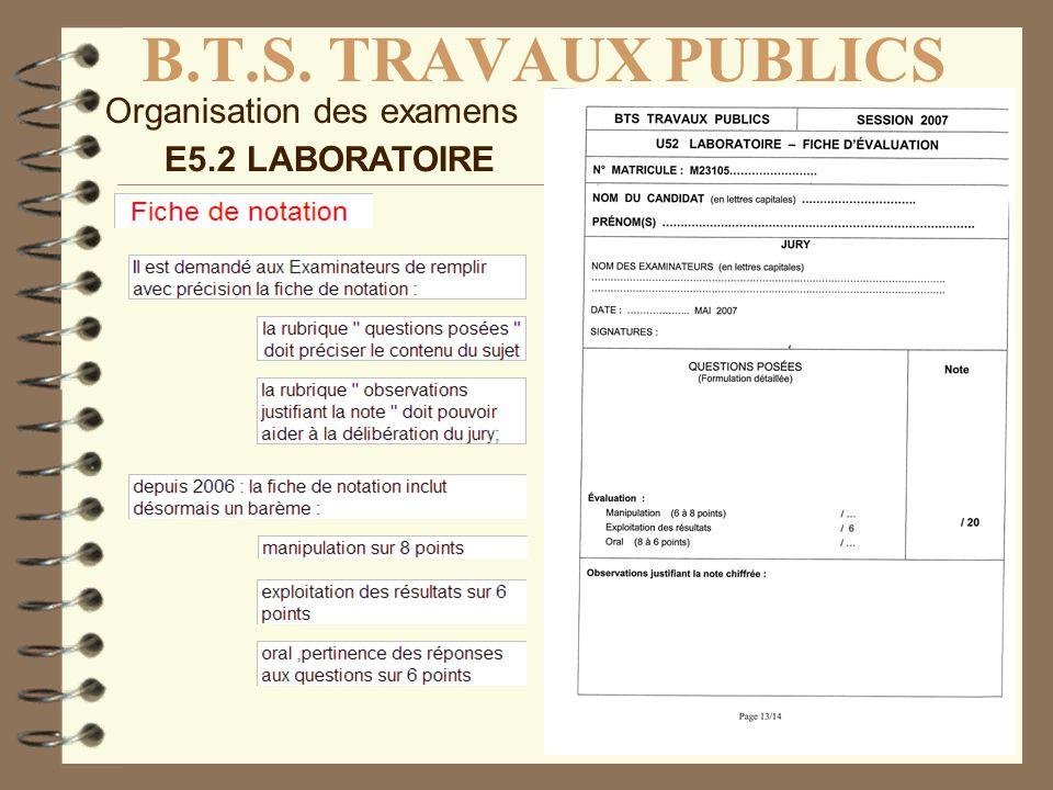 B.T.S. TRAVAUX PUBLICS