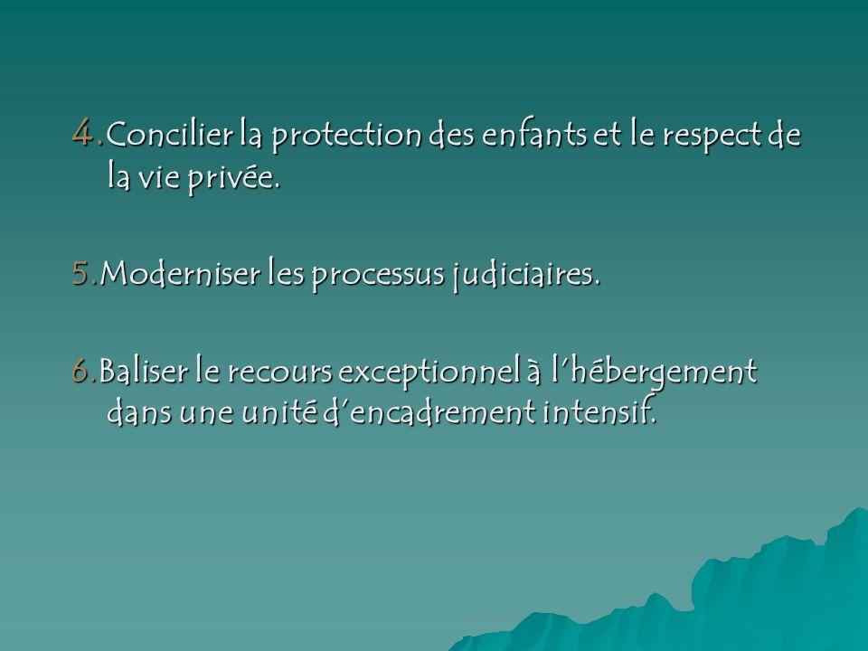 4. Concilier la protection des enfants et le respect de la vie privée.