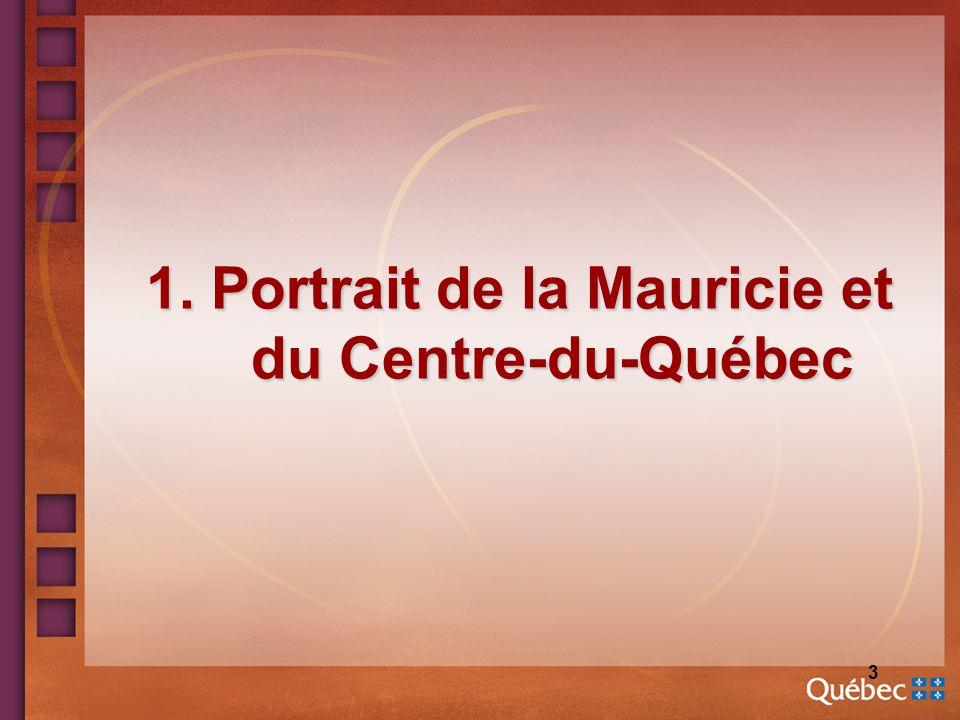 4 Population et territoire n Population: 485 000 n Proportion 65 ans et +: 17 % (Québec: 14 %) n 8 CSSS, dont 4 avec mission CH + CHRTR: La Tuque Shawinigan Trois-Rivières Drummondville Victoriaville