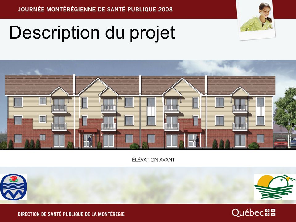 Objectifs Ville de Mercier –Usage du terrain conforme au quartier –Poursuite du développement du logement social –Maintien de loffre de logements locatifs