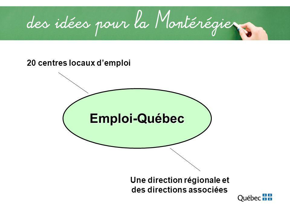 Emploi-Québec 20 centres locaux demploi Une direction régionale et des directions associées