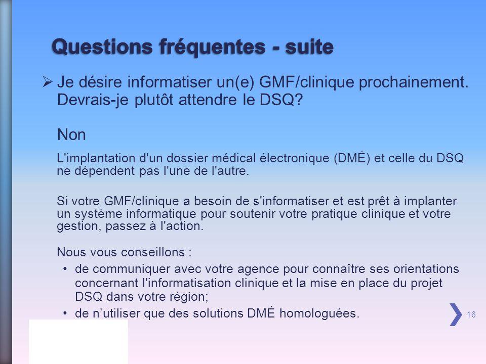 Je désire informatiser un(e) GMF/clinique prochainement.