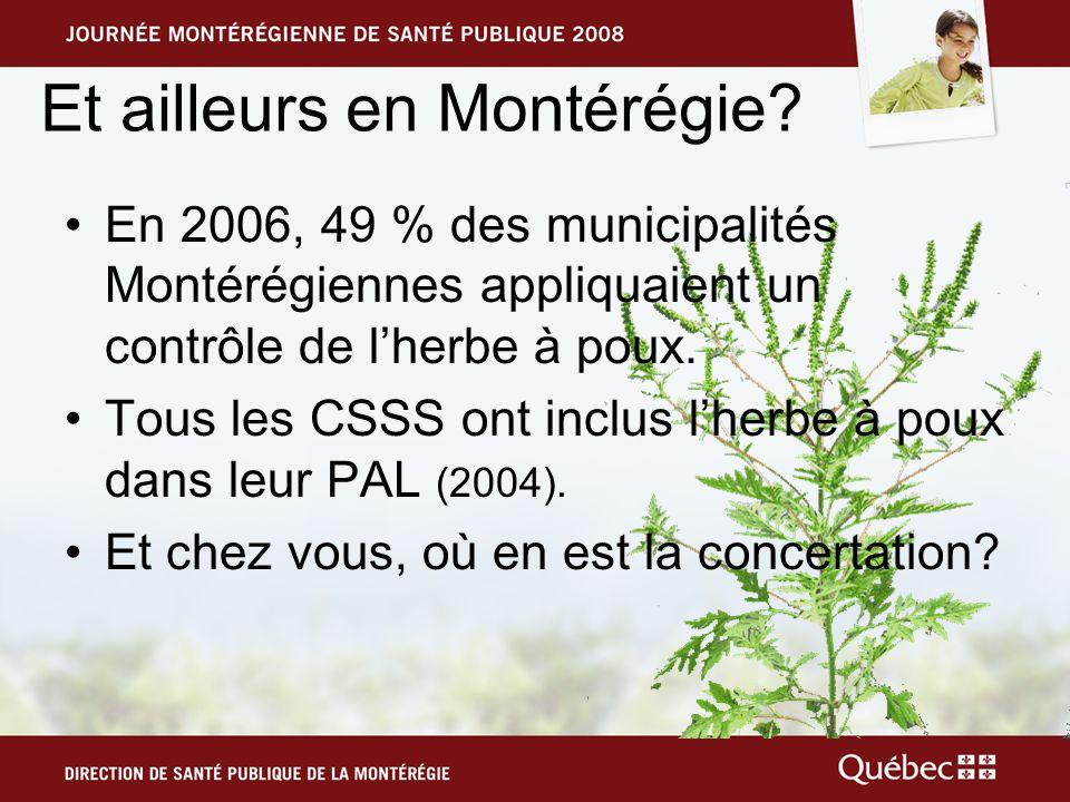 Et ailleurs en Montérégie.