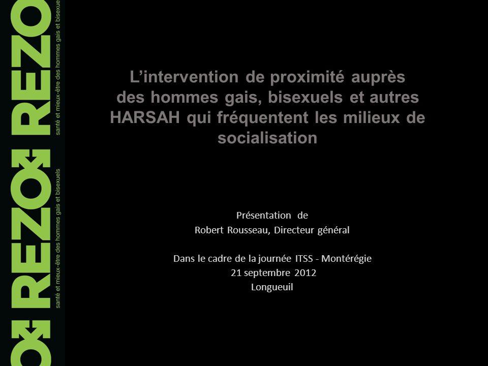 Lieux de socialisation Lieux couverts par nos présences et interventions en 2011-2012 6 saunas* : activités de sensibilisation, consultations individuelles, cliniques de dépistages, etc.