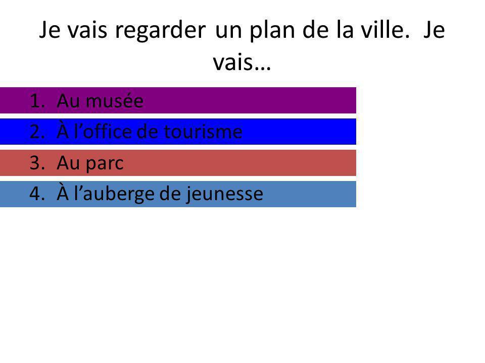 Je vais regarder un plan de la ville.