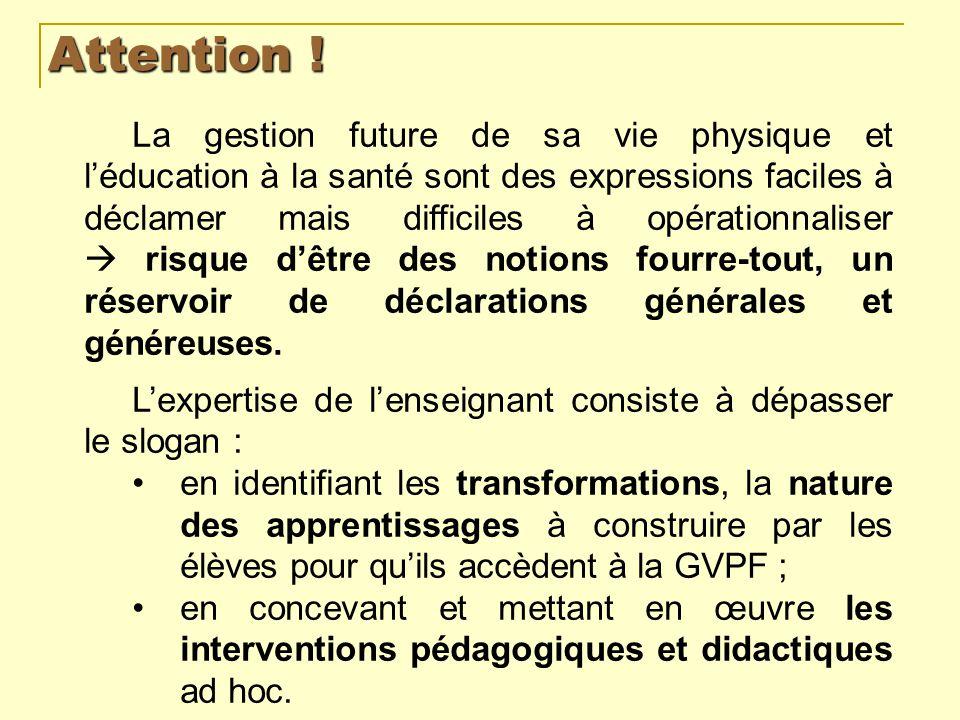 La GVPF et léducation à la santé dans les textes officiels Les programmes pour le lycée professionnel résument la finalité de lEPS dans lexpression « citoyen cultivé, lucide et autonome ».