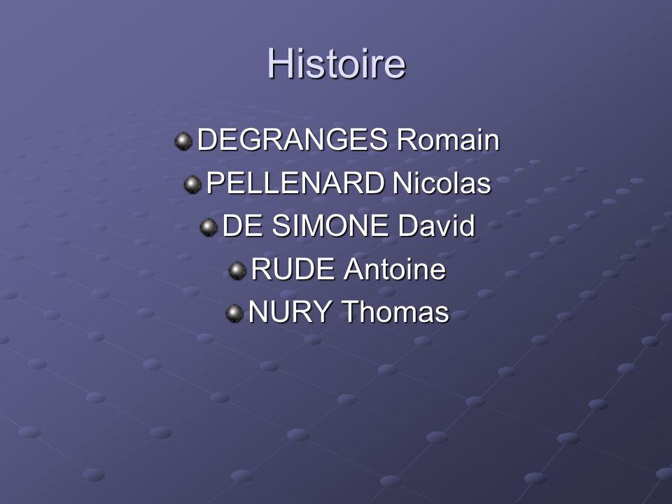 Histoire DEGRANGES Romain PELLENARD Nicolas DE SIMONE David RUDE Antoine NURY Thomas