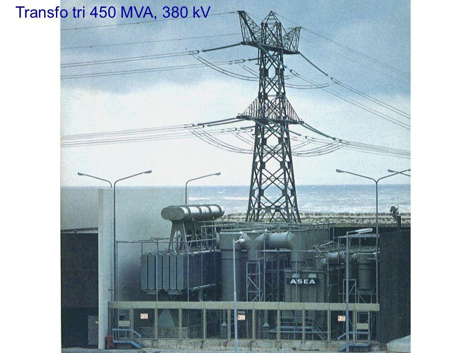 Circuit magnétique de transformateur à 5 colonnes 450 MVA, 18/161 kV