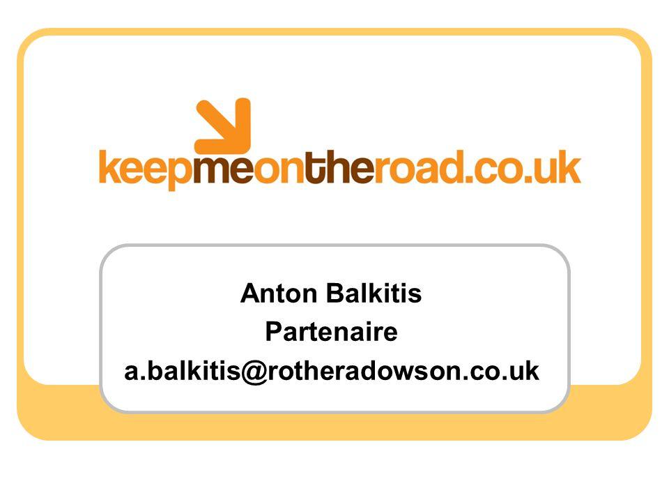 Anton Balkitis Partenaire a.balkitis@rotheradowson.co.uk