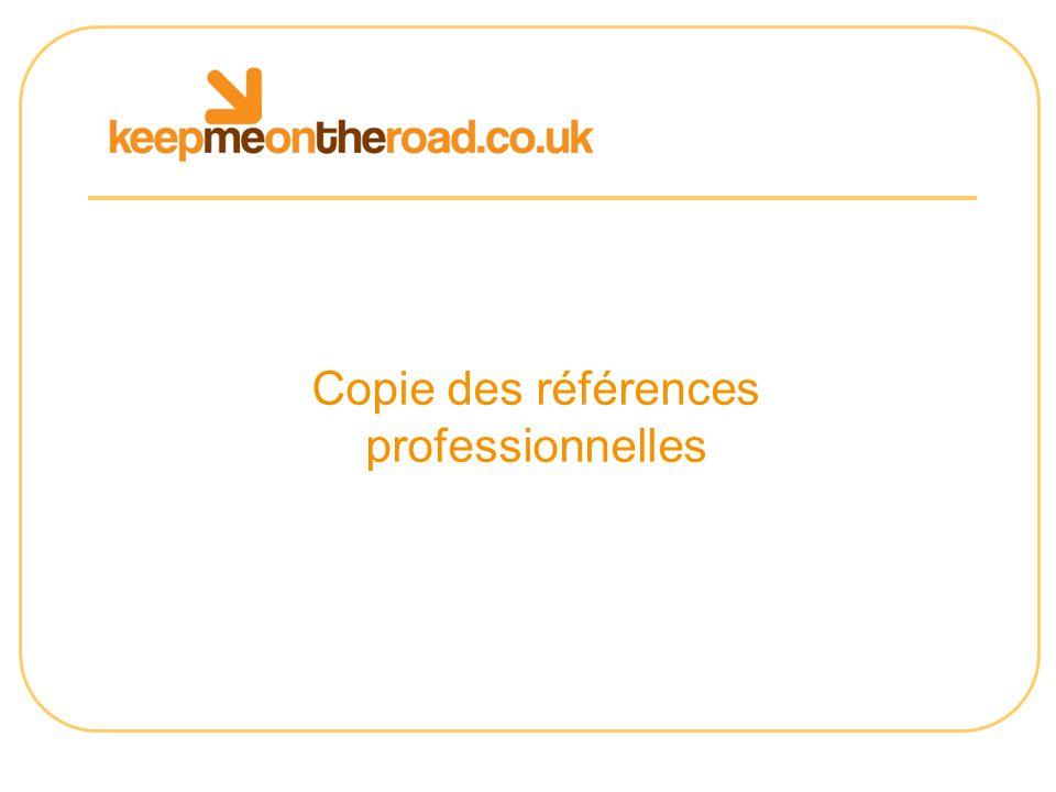 Copie des références professionnelles