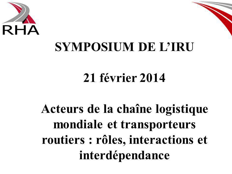 SYMPOSIUM DE LIRU 21 février 2014 Acteurs de la chaîne logistique mondiale et transporteurs routiers : rôles, interactions et interdépendance