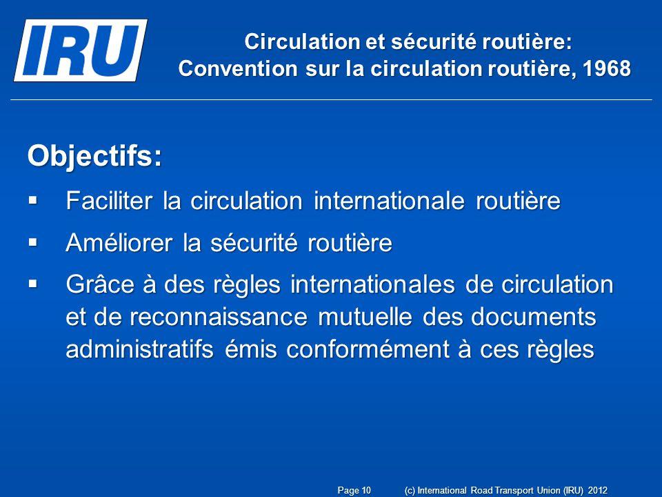 Circulation et sécurité routière: Convention sur la circulation routière, 1968 Circulation et sécurité routière: Convention sur la circulation routièr