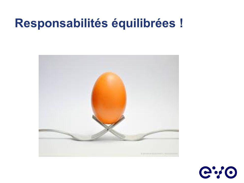 Responsabilités équilibrées !