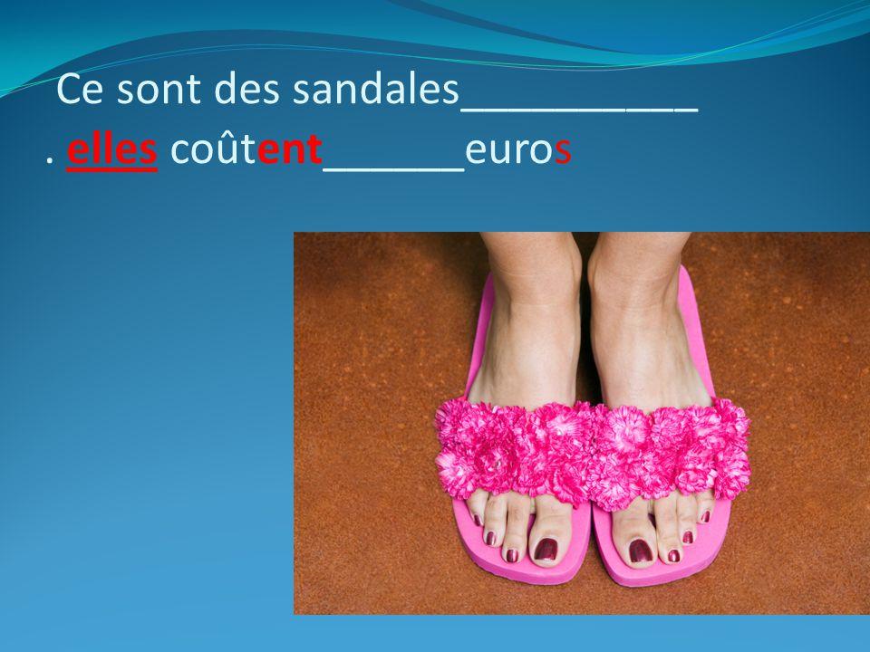 Ce sont des sandales__________. elles coûtent______euros