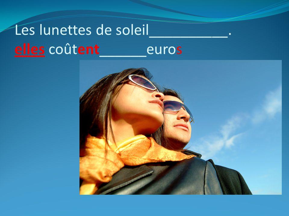 Les lunettes de soleil__________. elles coûtent______euros