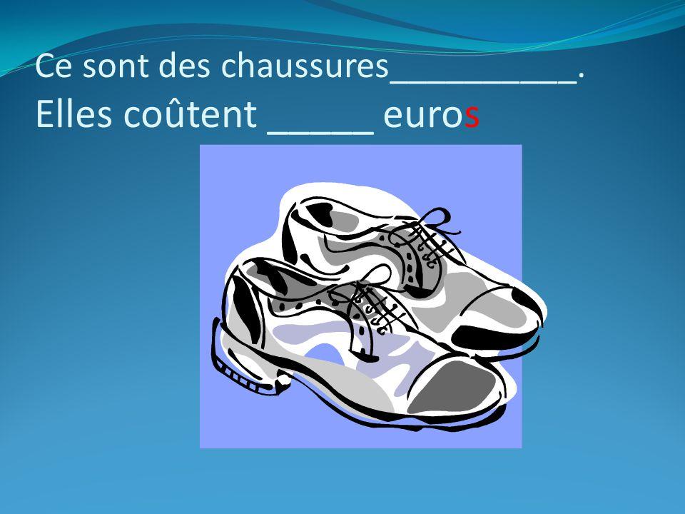 Cest ____ (un/une) cravate _________. Elle coûte______euros