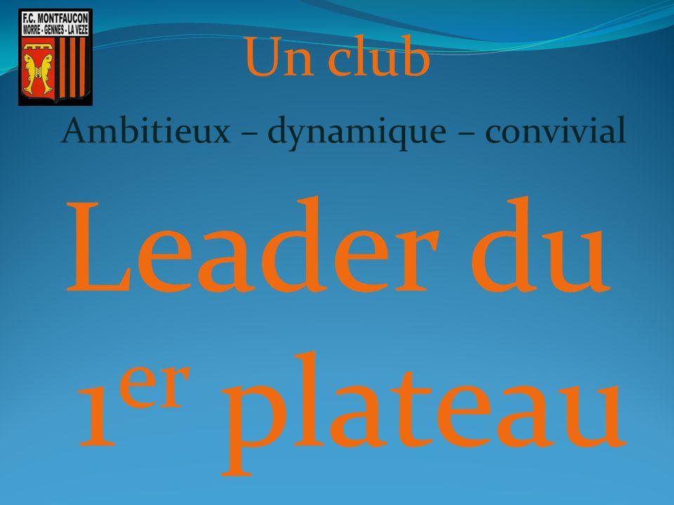 Un club Ambitieux – dynamique – convivial Leader du 1 er plateau