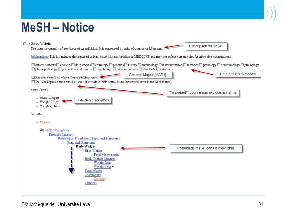 MeSH – Notice Bibliothèque de l Université Laval31