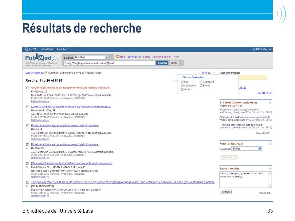 Résultats de recherche Bibliothèque de l Université Laval33