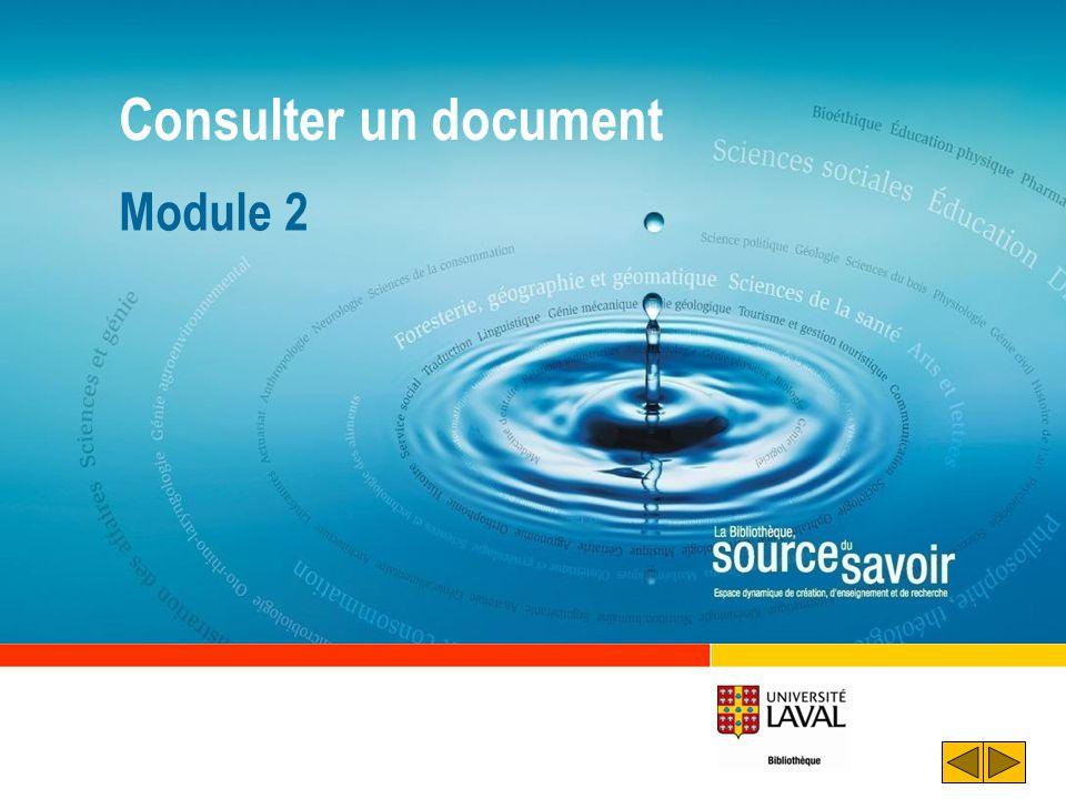 Objectifs Distinguer les différents formats de documents disponibles Distinguer les documents Accéder à un document en format électronique Trouver un livre sur les rayons Consulter le document