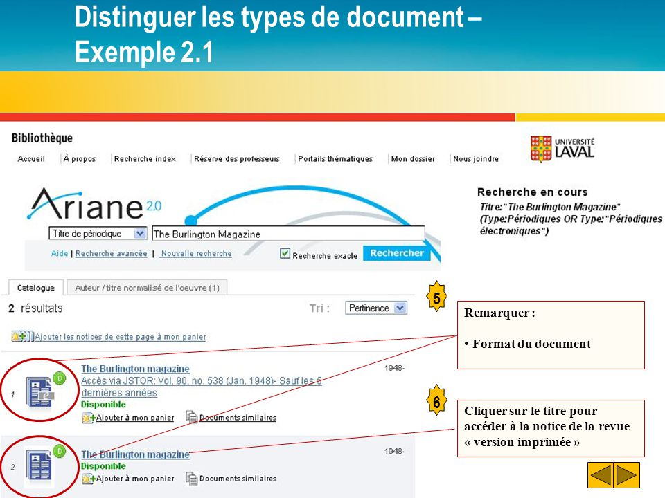 Consulter un document Attention! Différentes localisations possibles!