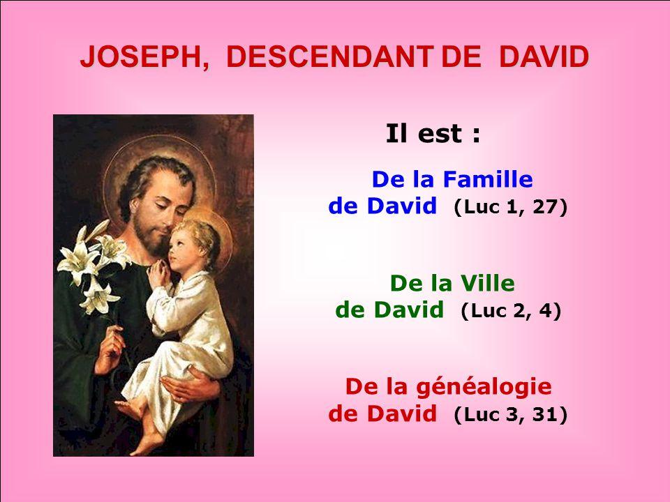 .. «Allez à Joseph» Il est puissant auprès de son Fils Jésus! AIE CONFIANCE !