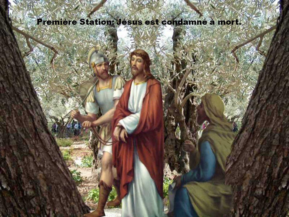 Première Station: Jésus est condamné à mort.