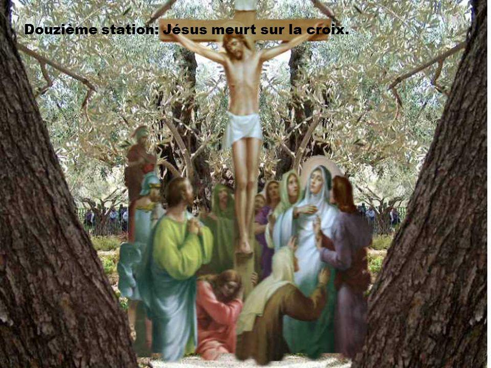 Seigneur, Cloué sur la croix, nous t'en prions, sois la lumière qui transforme nos croix. Ouvre-nous, comme au bon larron, l'espérance du paradis. Ame