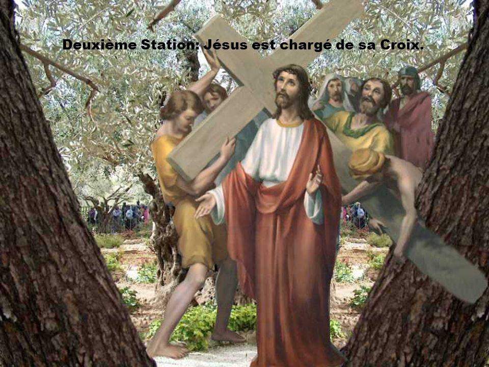 Septième station: Jésus tombe pour la deuxième fois.
