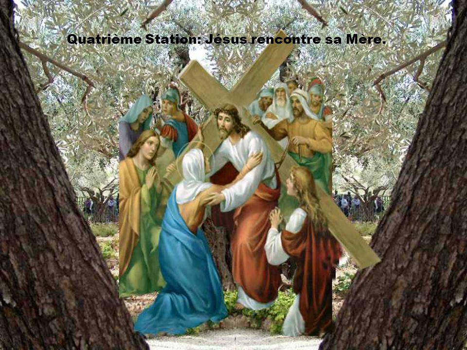 Quatorzième station: Jésus est mis au tombeau.