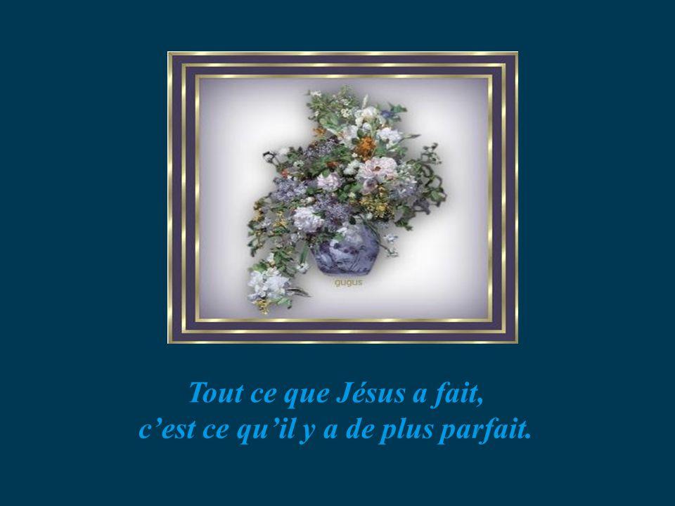 Tout ce que Jésus a fait, cest ce quil y a de plus parfait.