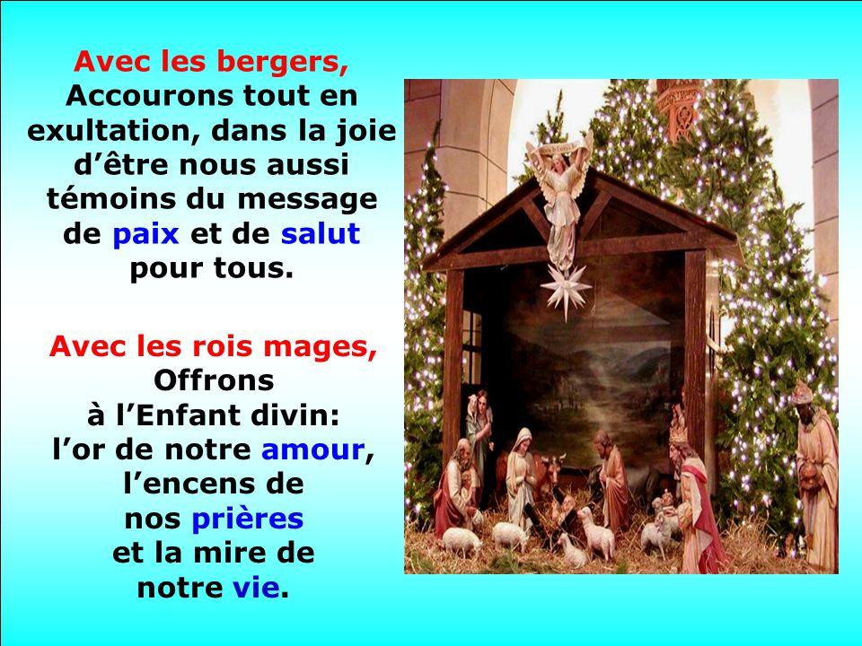 Avec les anges, Chantons les harmonies divines et offrons lAmour à notre pauvre terre.
