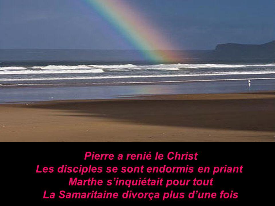 Pierre a renié le Christ Les disciples se sont endormis en priant Marthe sinquiétait pour tout La Samaritaine divorça plus dune fois