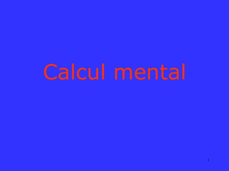 1 Calcul mental