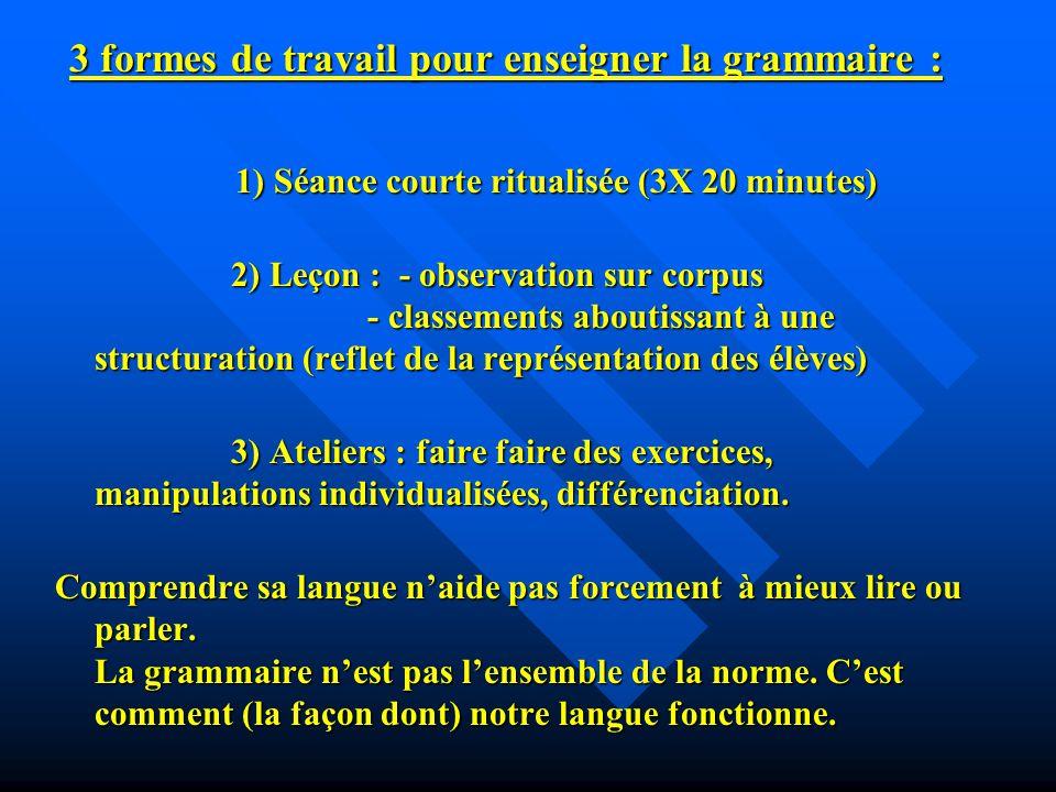 La dictée est présente dans les programmes de 2008 avec : lorthographe grammaticale et la place du verbe et la conjugaison.