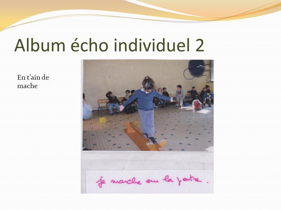 Album écho individuel 2 En tain de mache